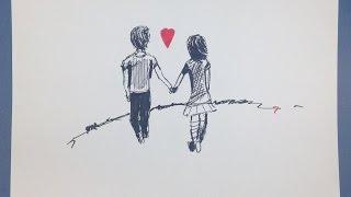 LOVE CARTOON # 2016 # Amazing Sketch Tutorial