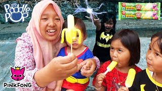 What if Anak Balita Jadi Superhero 💖 Beli Es Krim PinkFong Baby Monkey Banana🍦Paddle Pop Ice Cream