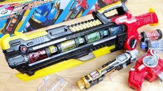 キャノン ・ブレードに2モード変形 & ボトル装填で5種の必殺技!DXフルボトルバスター レビュー!仮面ライダービルド ラビットラビット・タンクタンクフォーム専用武器