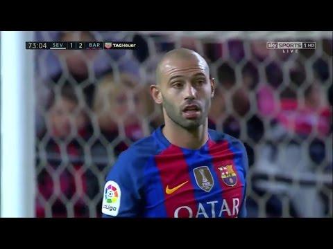 Javier Mascherano vs Sevilla (Away) 16-17 HD (6/11/2016)