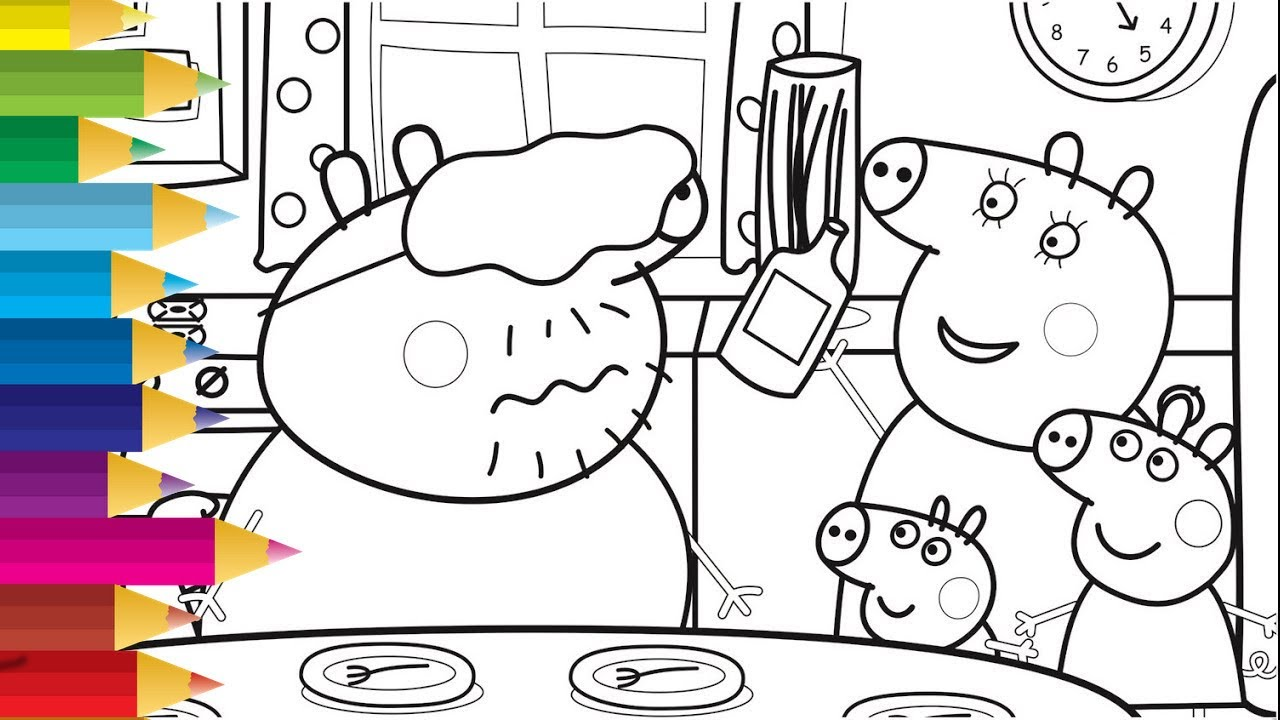 Peppa Pig Coloring Pages Online Free Peppa Pig Da Colorare Video