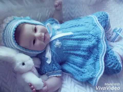вязание спицами новорожденным Youtube
