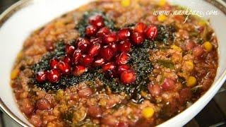 ash anar or pomegranate soup ashe anar recipe