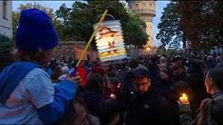 Trauer und Anteilnahme vor der Synagoge in Halle