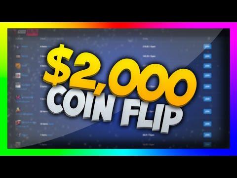 $2000 DOLLAR COIN FLIP! (CSGO Lotto Betting)