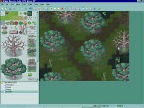 RMXP Video Mapping Tutorial - Forest Part 2 (W/O Autotiles)