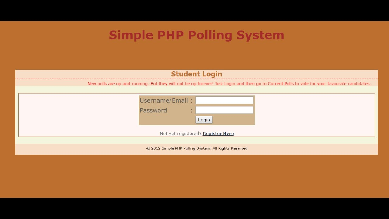 Online Voting Website