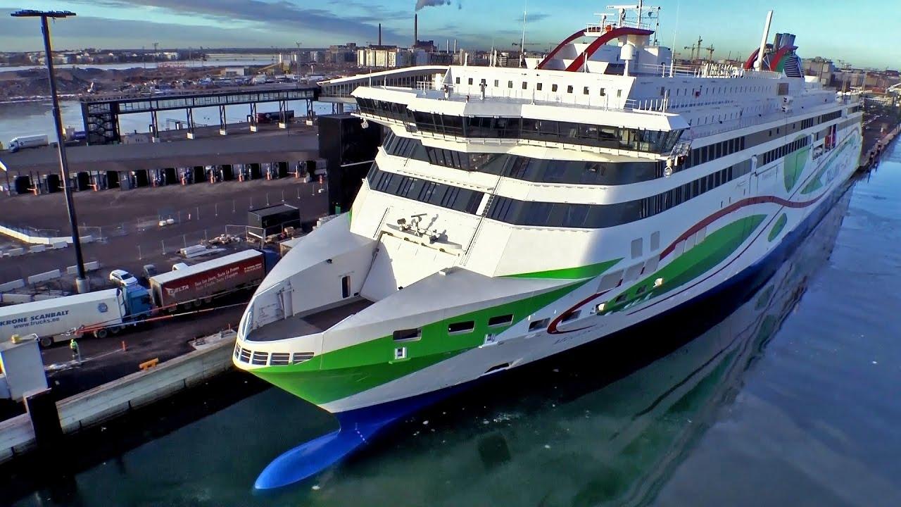 Tallink M/S Megastar at Port of Helsinki - YouTube