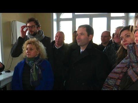 Benoît Hamon en campagne dans le Pas-de-Calais