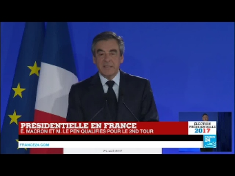 """REPLAY - François Fillon battu au 1er tour : """"Je voterai en faveur d'Emmanuel Macron"""""""