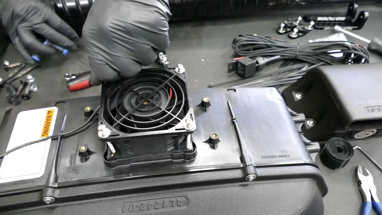 how to install the s b particle separator for the 2015 2017 can am maverick 1000 turbo [ 1280 x 720 Pixel ]