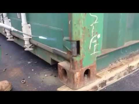 Fixing Stiff Hinges On A Shipping Container Youtube