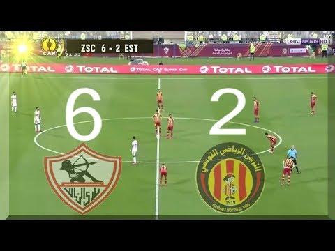 ملخص كامل مباراة الزمالك والترجي التونسي 6  2 افريقيا || مباراة مجنونة