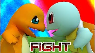 🔺💧SQUIRTLE VS CHARMANDER🔥🔺 ¡EPIC FIGHT!💪