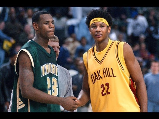 18bdd1b1d04 Flashback Friday  LeBron James vs Carmelo Anthony in high school ...