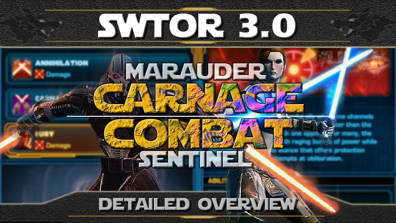 SWTOR 3 0 Combat Sentinel Guide by Vulkk - Dulfy
