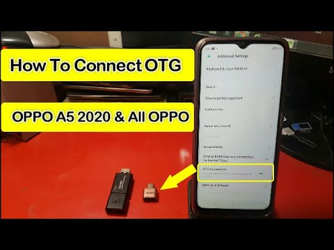 How To Connect OTG || Oppo A5 2020 || And All Oppo Mobiles