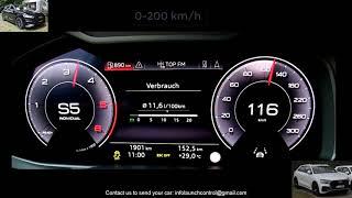 2019 Audi Q8 50 TDI 286 HP Acceleration 0-100km/h & 0-200km/H