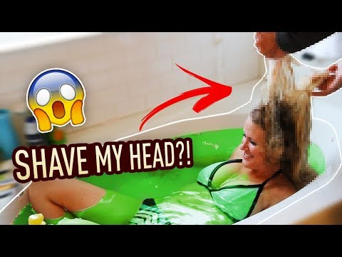 DID I HAVE TO SHAVE MY HEAD!? (Slime Stuck in HAIR)