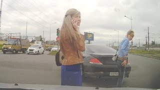 Woman Car Crashes | Woman Driving Fails | Funny Accidents #11