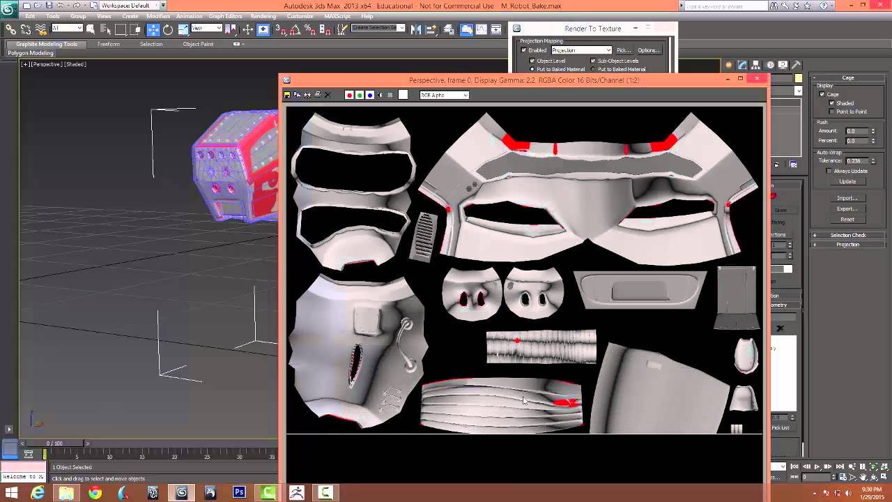 Render to Texture Tutorial in 3ds Max