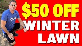 $50 Off Winter Overseeding Installation!!!