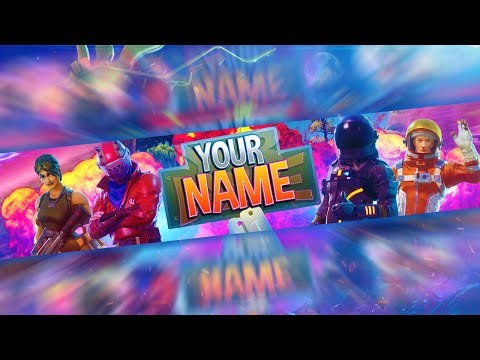 Fortnite Free Channel Art Banner Template Photoshop