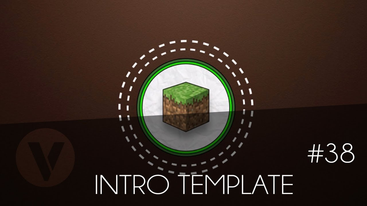 Free 2d Intro 38 Minecraft Sony Vegas Template Youtube