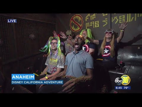 ABC30 NEWS REPORTER FREAKS OUT ON NEW DISNEYLAND RIDE