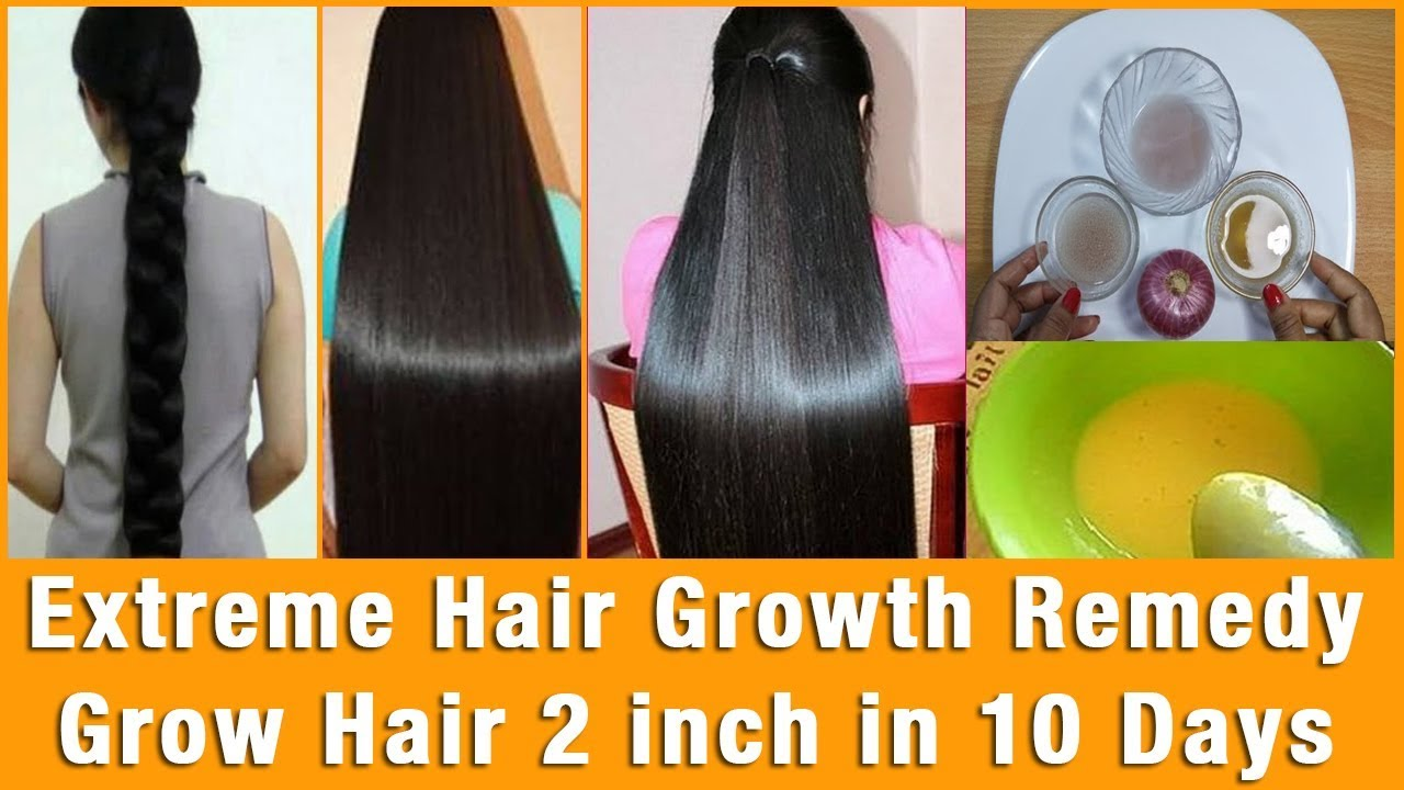 How To Grow Hair Long And Fast And Naturally In One Week Magical Hair Growth Treatment