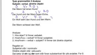Tysk grammatikk 2 Analyse - direkte objekt