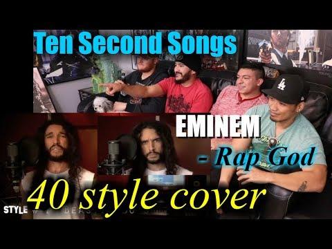 Eminem - Rap God | Performed In 40 Styles | Ten Second Songs -REACTION!