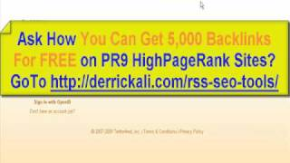 RSS Feeds Can Get You 5,000 BackLinks FREE?