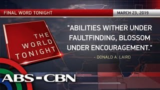 Final Word - March 23, 2019 | ANC