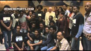 Group of Nobel Peace Laureates awards Eritrean who fights for immigrant's rights