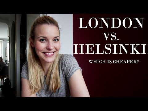 Is it cheaper to live in Helsinki or London?