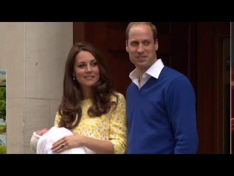 Royal baby seen in public for first time