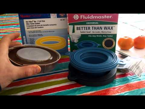Fluidmaster rubber toilet seal VS Traditional Wax seal - YouTube