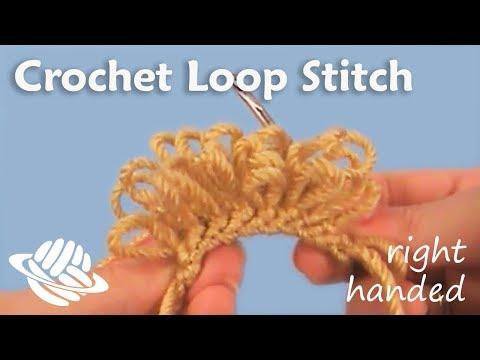 Amigurumi Loop Stitch : Crochet Loop Stitch (right-handed version) - YouTube
