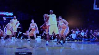lamar odom alley oop to kobe bryant for the reverse slam lakers vs suns 11 12 09
