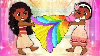 Moana & Maui Dating Love Story! The Muffin Man Cartoon for Kids  Part: 99