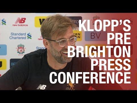 Jürgen Klopp's pre-match press conference | Brighton