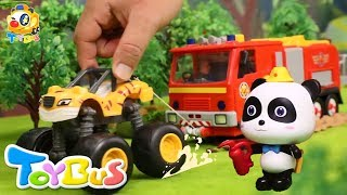 Super Monster Truck Rescue Team | Super Panda Firefighter  | PAW Patrol  | Kids Toys | ToyBus