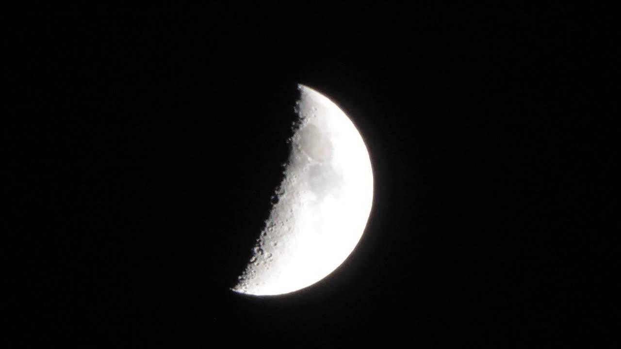 Luna cuarto creciente. 2016 Sep - YouTube