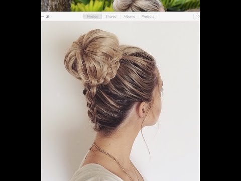 How To Upside Down Dutch Braid Into A Braided Bun
