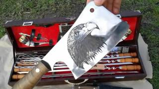 Шашлычный набор 47 в кейсе Видео обзор