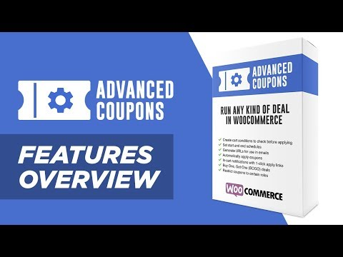 Advanced Coupons for WooCommerce (Features Introduction)
