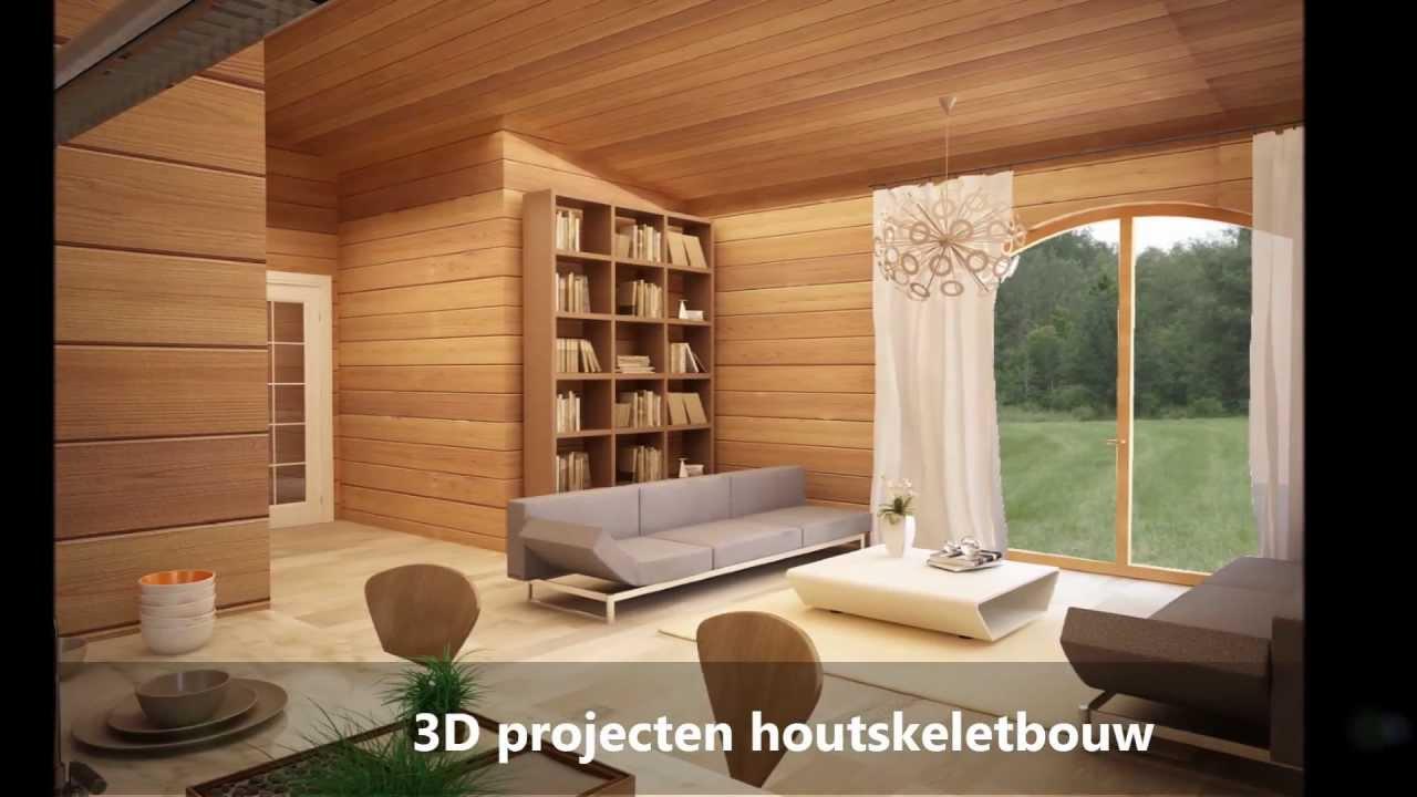 Houten huis interieur 3d youtube - Houten chalet interieur ...