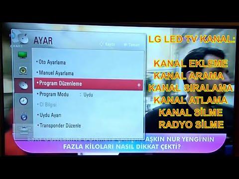 LG LED TV Full Sifirdan Kanal Ekleme Arama Kanal Siralama Kanal Tarama Silmek 2018