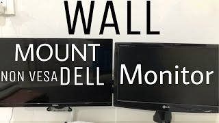 Wall Mount Your Non-Vesa Dell Monitor on Vesa Mount [How-to]